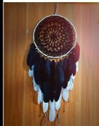 Black Handmade Dream Catcher With Feathers Wall /car Hanging Decoration Ornament