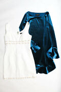 Laundry By Shelli Segal Womens Cocktail Dresses White Blue Size 4 2 Lot 2