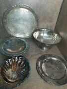 Mixed Lot Of Silver Plate Items Scrap Value Vintage And Antique Makers Marks