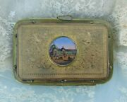 Victorian / Edwardian Coin Sowereign Purse With Miniature Painting