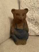 Rare Antique 1930s Large Paper Mache Teddy Bear German Candy Container Christmas