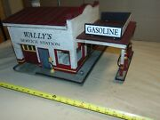 G Scale Wally's Service Station With Gas Island - Custom Building....