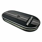 United Pacific Aluminum Mustang Script Oval Air Cleaner For Dual 4 Barrel Car...