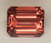 5.71ct Certified Extremely Rare Orangey Peach Color Unheated Brazilian Apatite
