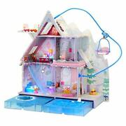 Lol Surprise Omg Winter Chill Cabin Wooden Doll House Playset With 95+ Surpri...
