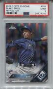 2016 Blake Snell Topps Chrome Refractor Rookie Rc 181 Tampa Bay Rays Psa 9 Mint