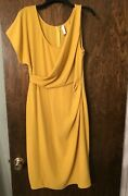 Large Elegant Mustard Colored Dress From Italy By Imperialandnbsp