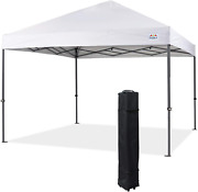 Durable Pop Up Canopy Tent With 8 Reinforced Cross Bars In Truss Structure White