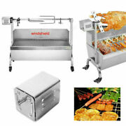 Outdoor Charcoal Pit Patio Backyard Meat Cooker Smoker Bbq Grill Garden Camp Usa