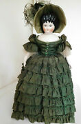 Antique Reproduction 18 Emma Clear Curly Top China Head Beautifully Dressed