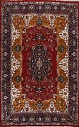 Vintage Floral Bokhara Oriental Area Rug Hand-knotted Living Room Carpet 9and039x13and039