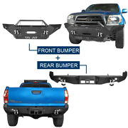 Dazzle Front Winch Bumper/rear Hitch Bumper For Toyota Tacoma 2005-2015 2nd Gen