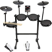 Rockjam Eight-piece Electric Drum Set With Adjustable Mesh Heads 30 Kits Usb And