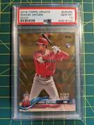 2018 Topps Update Gold Shohei Ohtani Psa 10 /2018 Rc Rookie Card Us285