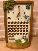 Scrapped Products Difficult To Obtain My Neighbor Totoro Calendar Clock Rhythm