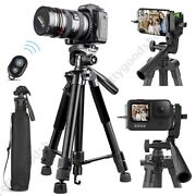 Alloy Camera Tripod Stand Phone Holder Mount Remote For Canon Nikon Dslr Iphone
