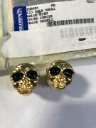 2 Pack Gold Skull Stem Valve Caps Harley Davidson Motorcycles Dyna And Others