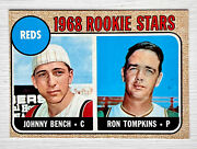 1968 Topps 247 Johnny Bench Ex-mt Rookie Baseball Card Reds Rc