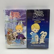 Precious Moments A Christmas Story Timmy's Special Delivery And Timmys Gift Vhs