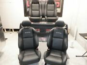 2006 Pontiac Gto Front And Rear Black Leather Seats 44k Miles Oem