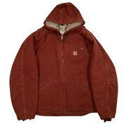 Sherpa Lined Duck Hooded Jacket J141 Cly Rare Clay Color - Size Xl Tall