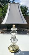 Waterford Lismore Hand Cut Fine Irish Crystal Table Lamp Plus Shade And Final