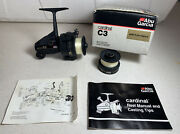 Vintage Abu Garcia Cardinal C3 Spinning Reel With Extra Spool And In Box