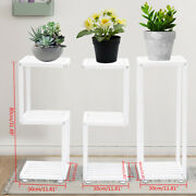 Plant Stand Iron Indoor/outdoor For Home Garden Balcony Flower Pot Stand White