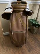 Tags By Lanig Ostrich Leather Golf Bag W/ Golf Club Covers And 1 Wallet Pouch