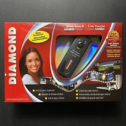 Diamond One Touch Video Capture And Recorder Vc500 Usb 2.0 S-video Composite Vhs