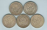 Australia. 1937 Crown X 5 Coins.. Ef-gef - All With Lustre