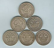 Australia. 1937 Crown X 6 Coins.. Aef-ef+ - All With Lustre