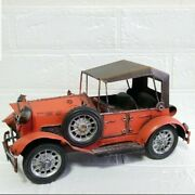 Classic Cars Antique Tinplate Car Toy Interior Red