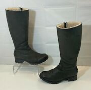 Ugg Boots Broome Ii Black Leather Womenand039s Size 9