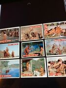 Davy Crockett Topps 1956 80 Cards, Back Of Card Dominated By An Orange Color