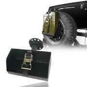 Spare Tire Jerry Can Holder Mount W/tall Tray For 97-20 Jeep Wrangler Tj Jk Jl