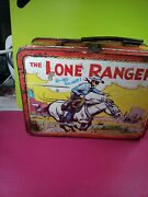 🇺🇲 Vintage 1954 The Lone Ranger By Adco, Lunch Box. No Thermos.