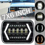 For Ford Gmc For Jeep Cherokee Yj Xj Su 7x6 5x7 Lights Led Projector Headlight