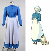 Howls Moving Castle Sophie Hatter Cosplay Costume Maid Dress Cos Outfit Attire