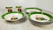 Lot Of 9 | John Deere Dishes 1935 Model B Tractor By Gibson