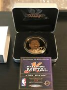 Kobe Bryant Highland Mint Extreme Metal Coin Very Rare Only 500 Made