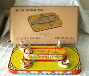 Vintage J.chein Playland Whip Wind-up Toy-w Org Box And Insert- High Grade Example