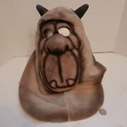 Rare Creatures Of Delight Gray Troll W/ Horns Mask 1990 T. Oliver