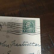 Rare Franklin 1 Cent Stamp On Postcard Dated 1924 Pittsburgh Pa. Greetings