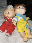Vintage 4x Lot Of Randomcabbage Patch Kids Blue And Brown Eyes Cheap
