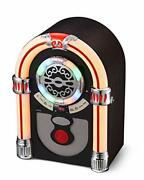 Ueme Retro Tabletop Jukebox With Cd Player, Bluetooth, Fm Radio, Aux-in Port And
