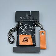 Bioworld Naruto Shippuden Collection Line Art Trifold Chain Wallet