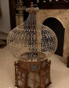 Rare Old Magnificent Antique English Victorian Castle Birds Palace Handcrafted