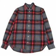 Gitman Brothers Tartan Check Button Down Nel Shirt Gray Red And Others Mens