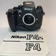 Nikon F4s Body 35mm Slr Film Camera W/ Mb-21 From Japan Very Well Taken Care Of